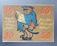 LÜDINGHAUSEN NOTGELD 50 PFENNIG 1921 EMERGENCY MONEY GERMANY BANKNOTE (8670)
