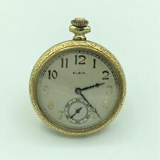 1925 Elgin 17 Jewel Open Face Pocket Watch 12s Model 3 #27566396 Running