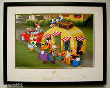 Don Ducky Williams Disney Lithograph signed w/coa framed 16 x 11 ECLECTIC COOL 2