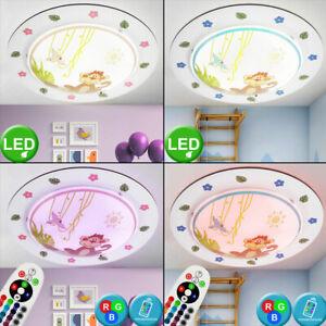 RGB LED Decken Lampen Tiere Zoo Spiel Baby Kinder Zimmer Leuchten FERNBEDIENUNG