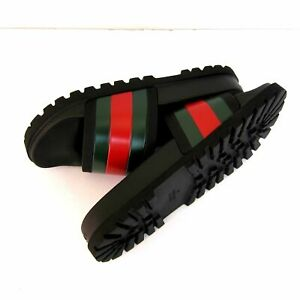 Gucci Slides/Flip-Flops/Slippers/Sandals/Black/ Men's EU44