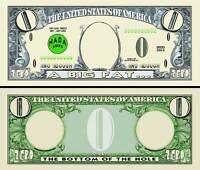 BILLET ZERO DOLLAR US !  Collection HUMOUR Etats Unis Monnaie Million gag nada