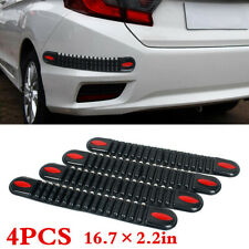 Car Front Rear Bumper Rubber Protect Sticker Anti-collision Strip 16.7×2.2in 4pc