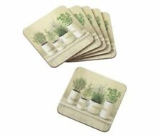 Stow Green Old English Herb Coasters Set of 6 10.5cm x 10.5cm
