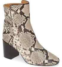 Tory Burch Snakeskin Leather 70 mm Kira Bootie in Warm Roccia  Size 8.5 NIB $428