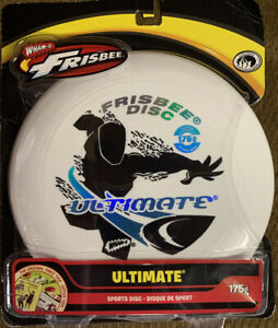 WHAM-O Frisbee 175g Ultimate Sports Disc White, New in Packaging!