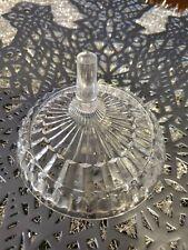 Vintage 1980 Avon Fostoria Clear Crystal Glass Ring Holder Trinket Dish.