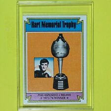 "PHIL ESPOSITO 1974-75  "" HART TROPHY WINNER ""  Topps #244  Boston Bruins"