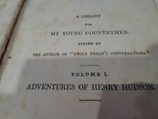 19th.c  Antique 1842 Edition of Adventures Of Henry Hudson Vol.1, Book