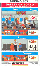 Safety Card - Air Europe - B767 (S2483)