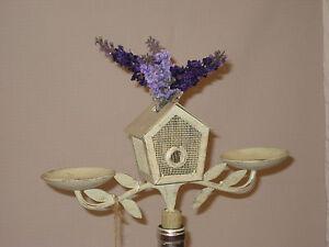 Birdhouse Wine Bottle Topper Candelabra, w/Glass Vase, Tealight or Votive Candle