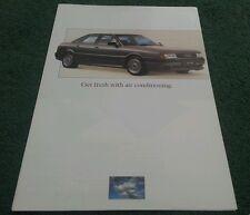 1988 AUDI VW RANGE AIR CONDITIONING UK BROCHURE - Shows VW GOLF GTi 16V AUDI 80