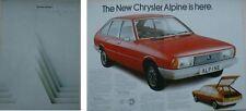 Chrysler Talbot Alpine GL S 1975-76 Original UK Sales Brochure Pub. No. C9509