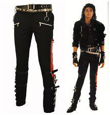 PUNK ROCK MICHAEL JACKSON MJ BAD MATEL BUCKLE TROUSERS SKINNY PANTS COSTUME