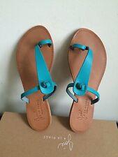 NIB $120 JOIE Rivage T-strap Sandals Lagoon Size 6.5/36.5