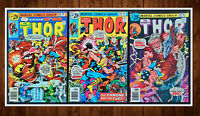 Lot of 3 The Mighty Thor #248 (9.0) 249 (VF+) 250 (VF) See Listing for Details