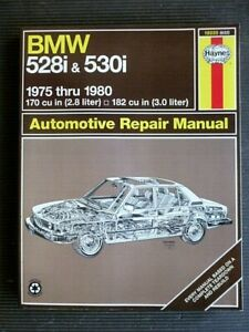 "BMW "" 528i & 530i "" 1975 thru 1980 SERVICE / REPAIR MANUAL New Old Stock"