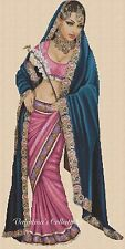 Indian Lady Counted Cross Stitch COMPLETE KIT No. 3-404