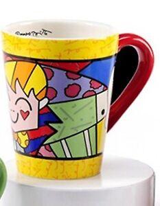 ROMERO BRITTO Tasse Mug Becher gelb rot Höhe ca. 12 cm 333215-2 ! B-Ware !