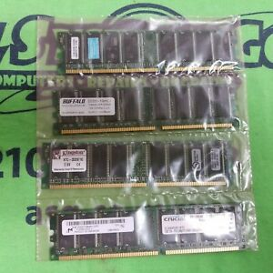 4GB (1GB x 4) DDR RAM PC2700 333MHz 184-Pin NON-ECC Memory Various Brands