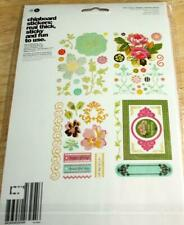 BasicGrey   HELLO LUSCIOUS   Chipboard Stickers   NIP   4 Pages  Chip Stickers