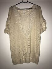 Womens H&M Beige Casual Top Size S
