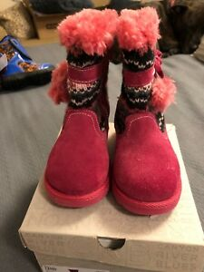 Girls Canyon River Blues boots warm winter cute size 6 Toddler BRAND NEW IN BOX