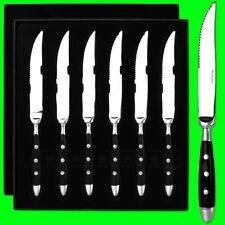 6 Steakmesser Messer Messerset Pizzamesser Besteck Set Edelstahl Geschenkkarton