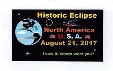 2017 Solar Eclipse refrig magnet refrigerator sun moon USA T-  Graff