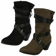 Block Patternless Formal Boots for Women