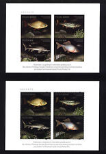 RARE NEWPRINTS 4711-14  A+B POLAND 2016 Fishes threatened by the extinction FISH