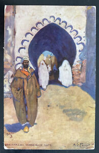 1906 Tanger Morocco British Agencies Picture postcard cover To Austria Horse She
