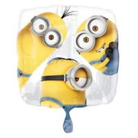 "Despicable Me Minions 18"" Square Foil Mylar Balloon Birthday Party Supplies"