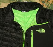 Mens NORTH FACE Black Thermoball 1/2 Zip Puffer Jacket Medium M