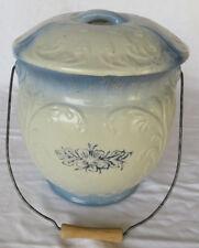 "VTG Victoria Chamber Pot Blue & White with French Flower Design 12"""