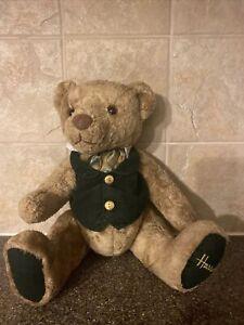 Harrods Knight Sbridge Teddybear With Tuxedo Shirt Harrods On Paw Bendable Limbs