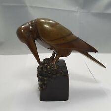 wunderschöne Art Deco Vogel Figur Bronze Wien ? Hagenauer ? h: 15cm um 1930