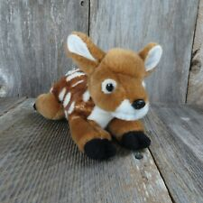"Unipak Fawn Deer Brown Soft Plush Stuffed Animal 8"" Spotted Plastic Nose"