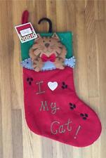 """Kitty Cat """"I Heart My Cat"""" ~ Christmas Stocking ~ Nwt"""
