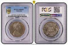 1984 MS65 AUSTRALIAN FIFTY CENT 50C PCGS GRADED GEM UNC
