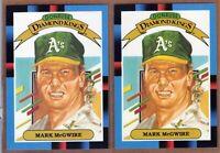 (2)  1988 Donruss #1 Mark McGwire Diamond Kings