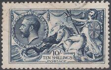 1913 WATERLOW SEAHORSES SG402 10s INDIGO FINE USED LIGHT CANCELLATION
