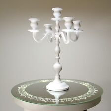 Bougeoir Chandelier OCCASION blanc Chandeliers 35cm 5 -flammes Mariage