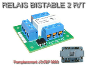 Platine relais bistable 2 RT - Remplacement JOUEF 9893