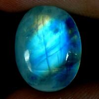 100% Natural Blue Fire Rainbow Moonstone Oval, Pear, Fancy Cabochon Gemstone J16