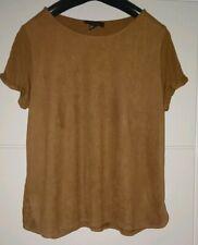 Atmosphere Brown Short Sleeve Top Size 16