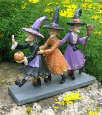 Halloween Dancing Witch Figurines*Primitive Whimsical Table/Shelf Decor*Pumpkins