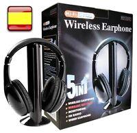 Cascos Auriculares inalambricos con Radio FM 5 EN 1 para tv pc musica Audifonos
