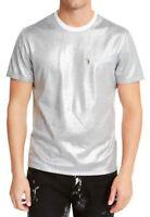INC Mens T-Shirt White Silver Size 2XL Zipper-Detail Metallic Tee $49 096