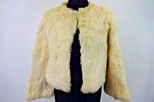 """Fourrure couture vintage manteau de fourrure veste femmes taille 36"""" crème Grade A W917"""